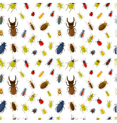 seamless pattern with insects vector image