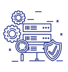 Security system technology icons vector