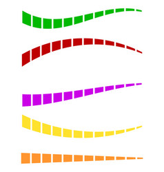 Set of colorful dashed lines in different vector