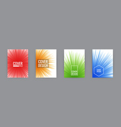 set of cover background design template vector image