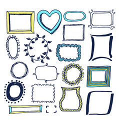 set various colorful frames vector image