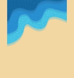 shore background vector image