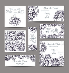 sketch - card with flowers vector image