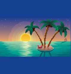 small island landscape subset vector image