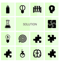 Solution icons vector