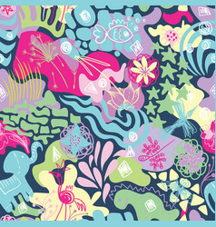 Spring cheerful textile pattern vector