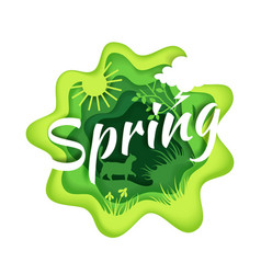 spring season composition in vector image