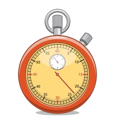Stopwatch isolated on white vector image