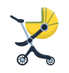 Stroller iconcartoon icon isolated vector