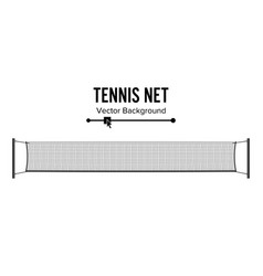 tennis net realistic net used in the sport game vector image