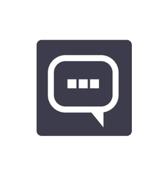 text balloon isolated icon design vector image