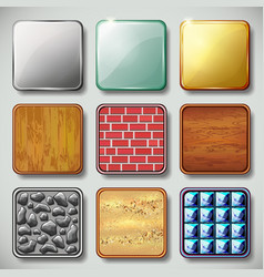 Texture background Application icon set vector