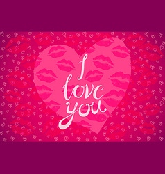 The inscription I love you in the shape of a heart vector image