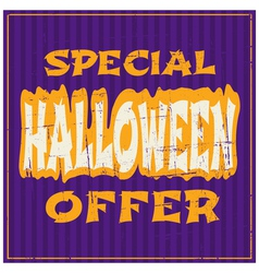 typographic design Halloween sale poster vector image