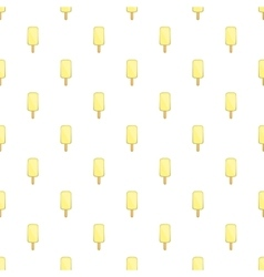 Vanilla ice cream on a stick pattern cartoon style vector