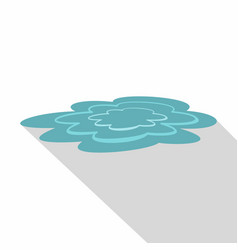 Water puddle icon flat style vector