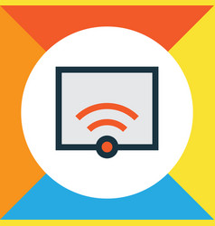 Wifi colorful outline symbol premium quality vector