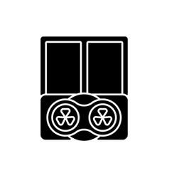 Window fans black glyph icon vector