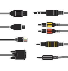Wire connectors set vector