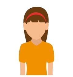 Woman girl female hair person face head vector