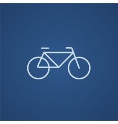 Bicycle line icon vector image vector image