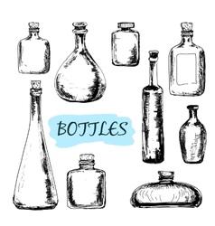 Bottles Set of vector image vector image