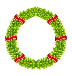 Christmas wreath of fir twigs vector image