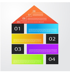 City banner with colorful icons infographics vector image vector image