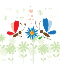 summer background butterfly vector image vector image