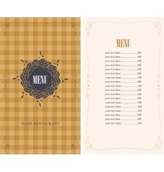template menu with price vector image vector image