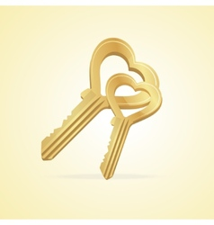 The key heart and love vector image vector image