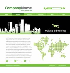 website template with a jet vector image vector image