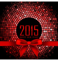 2015 background with red disco lights and ribbon vector image vector image