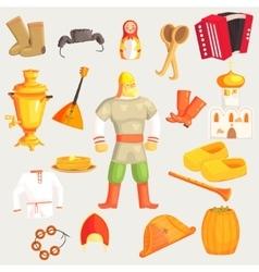 Classic Russian Culture Symbols Set vector image vector image