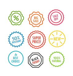 different offer sale tags isolated vector image vector image