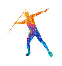 javelin throw athlete vector image vector image