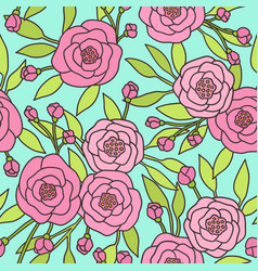 pink peony pattern vector image vector image