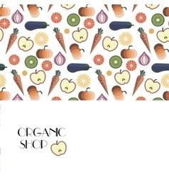 Fruits and Vegetables pattern design vector image