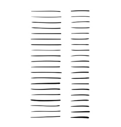 Hand-drawn lines set vector image vector image