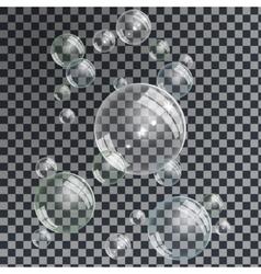 Water Bubbles set vector image vector image