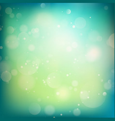 Blue and green defocused lights background EPS 10 vector image vector image