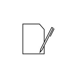 edit file icon vector image