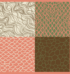 hipster style seamless texture set vector image
