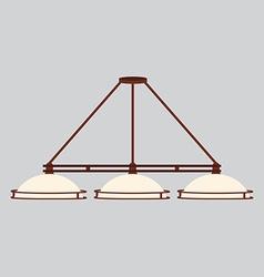 Pool lamp with three shades vector image