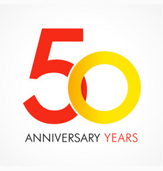 50 circle anniversary logo vector image
