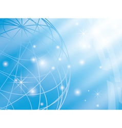 abstract background with blue globe vector image
