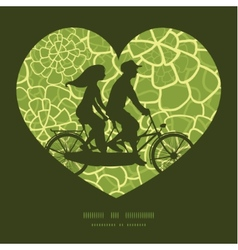 Abstract green natural texture couple on vector