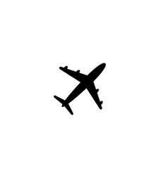 airplane icon symbol on white background vector image
