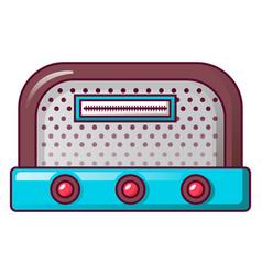 antique radio icon cartoon style vector image