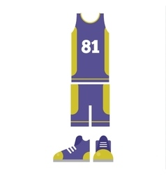 Basketball player cloth vector image